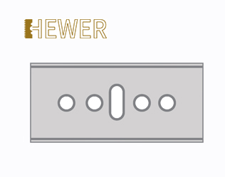 HEWER Rectangle Blade HB-045